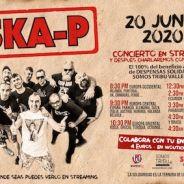 SKA-P daran un concierto solidario en streaming el 20 de junio