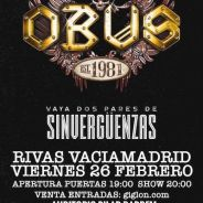 OBUS retoman su gira la proxima semana en Rivas (Madrid) y Mieres (Asturias)