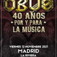 OBUS tocara el 12 de noviembre en La Riviera (Madrid)