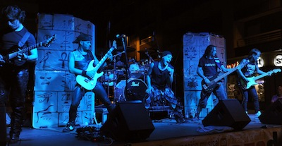 Valladolid, 23/8/2012. Iron What en la Plaza de San Miguel. Foto Ricardo Otazo.